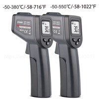 -50-380/550 градусов ручной цифровой инфракрасный термометр Бесконтактный лазерный ЖК-дисплей ИК температура пистолет инструменты