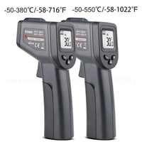 -50-380/550 grados de mano Digital infrarrojo termómetro sin contacto láser LCD pantalla IR temperatura pistola instrumentos