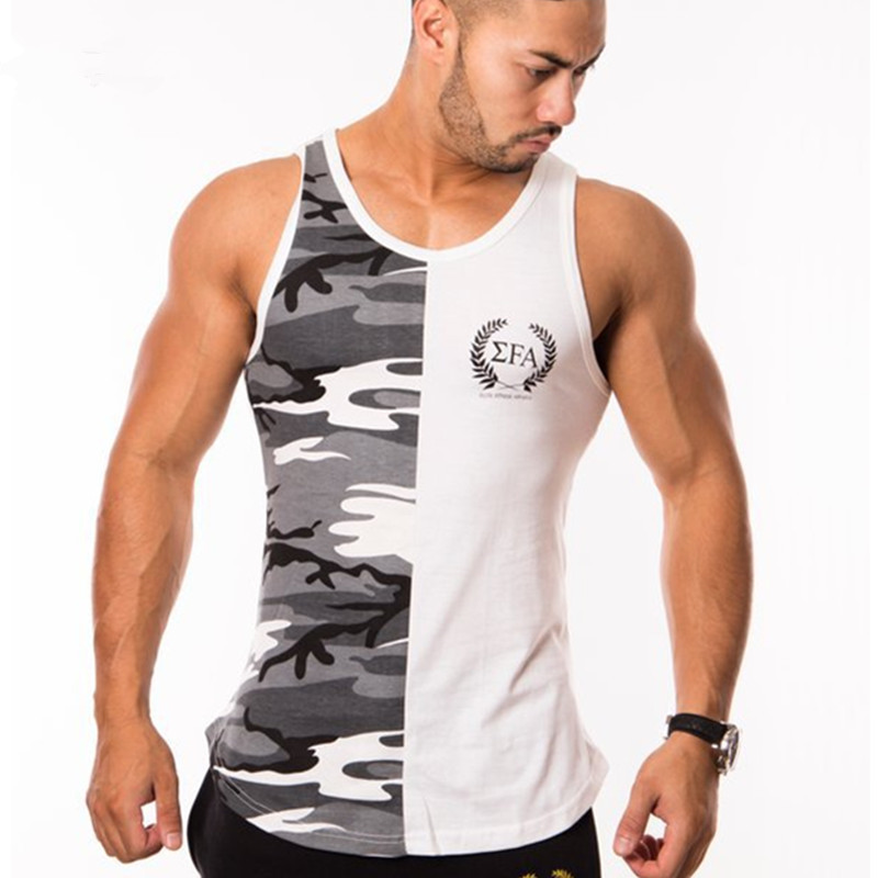 2018 Nieuwe Mode Mannen Tank Tops Sporting Militaire Singlets Stijl Vest Sexy Herenkleding Workout Tank Tops Maat