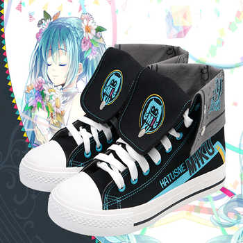 Anime Hatsune Miku Cosplay Shoes Miku Cosplay Canvas Shoes Halloween Carnival Party Daily Leisure Shoes - DISCOUNT ITEM  0% OFF All Category