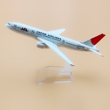 16cm Alloy Metal Air Japan Airlines JAL Boeing 777 B777 Airways Airplane Model Plane Model W Stand Aircraft  Gift