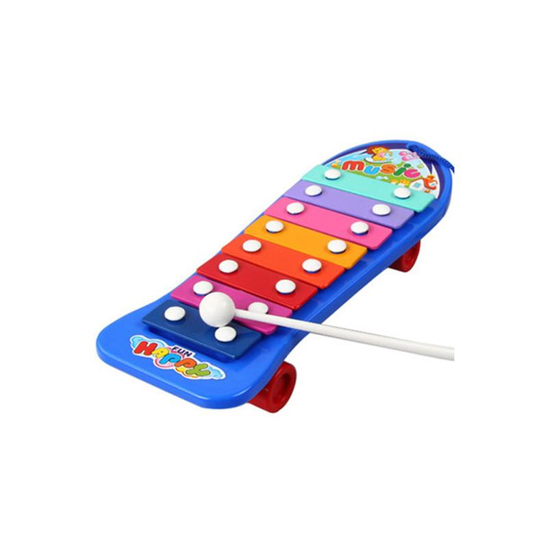 Colorful Hand Knock Piano 8-Note Wisdom Smart Clever Development Musical Toys for Baby Kid Children (Random Color)