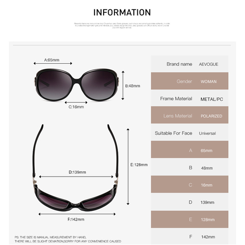 AEVOGUE Polarized Sunglasses Women Oversize Vintage Shield Frame Classic Brand Designer Sun Glasses UV400 AE0691 Karachi