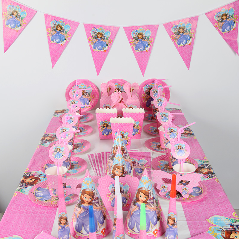85pcs/lot Sophia princess Party Decoration Birthday Kids ...