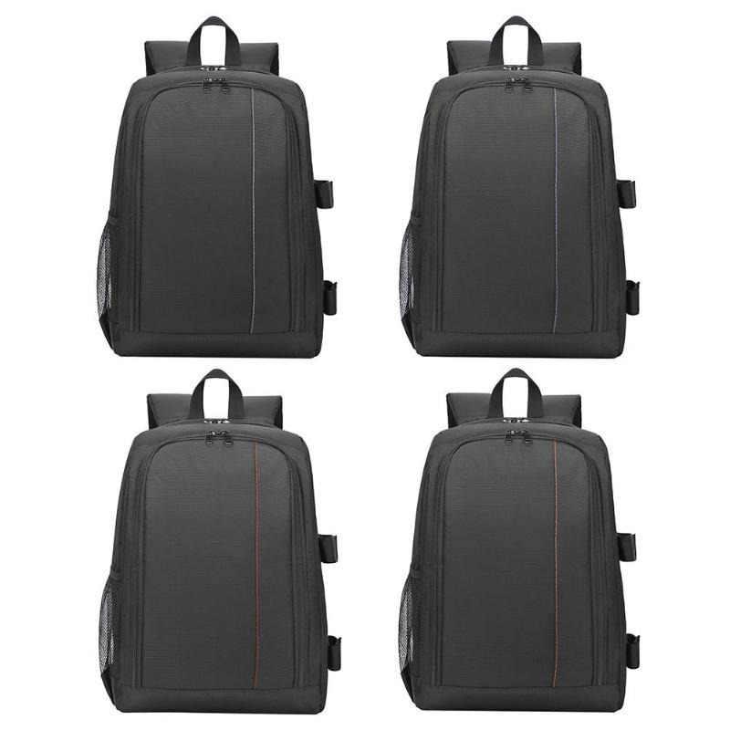 New Waterproof Digital DSLR Photo Padded Backpack w  Rain Cover Laptop  15.6inch Multi- 400bbe322739b