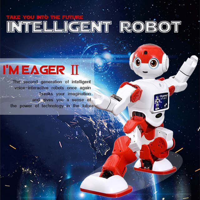 US $1399 98 |Cityeasy Intelligent Humanoid Robot Voice Control Robot  Programming Software APP Control Security Education Children Present-in  Voice