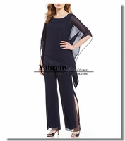 Asymmetrical Top and Pants suit dresses for Mother of the bride 2019 New arrival