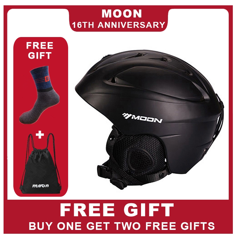 MOON Ski Helmet Ultralight Integrally molded High Quality Professional Snowboard Skateboard Helmet Men Women Multi