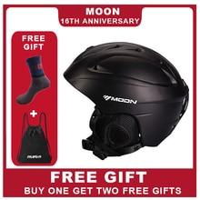 MOON лыжный шлем сверхлегкий интегрально-литой высокое качество Professional шлем для сноубордистов скейтбордистов Мужчины Женщины мульти цвета