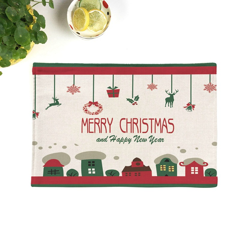 Search For Flights Christmas Two-layers Thicken Cotton And Linen Table Napkin Dish Cloth With Anti-slip Granules Kitchen Towel Tea And Coffee Pad Beautiful And Charming Home Textile