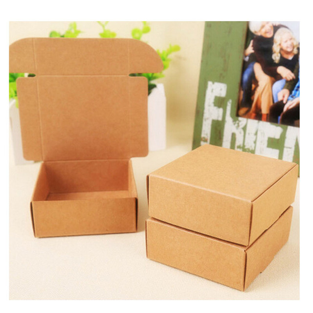 2018 New Natural Kraft Paper Gift Packaging Box Small Craft Box