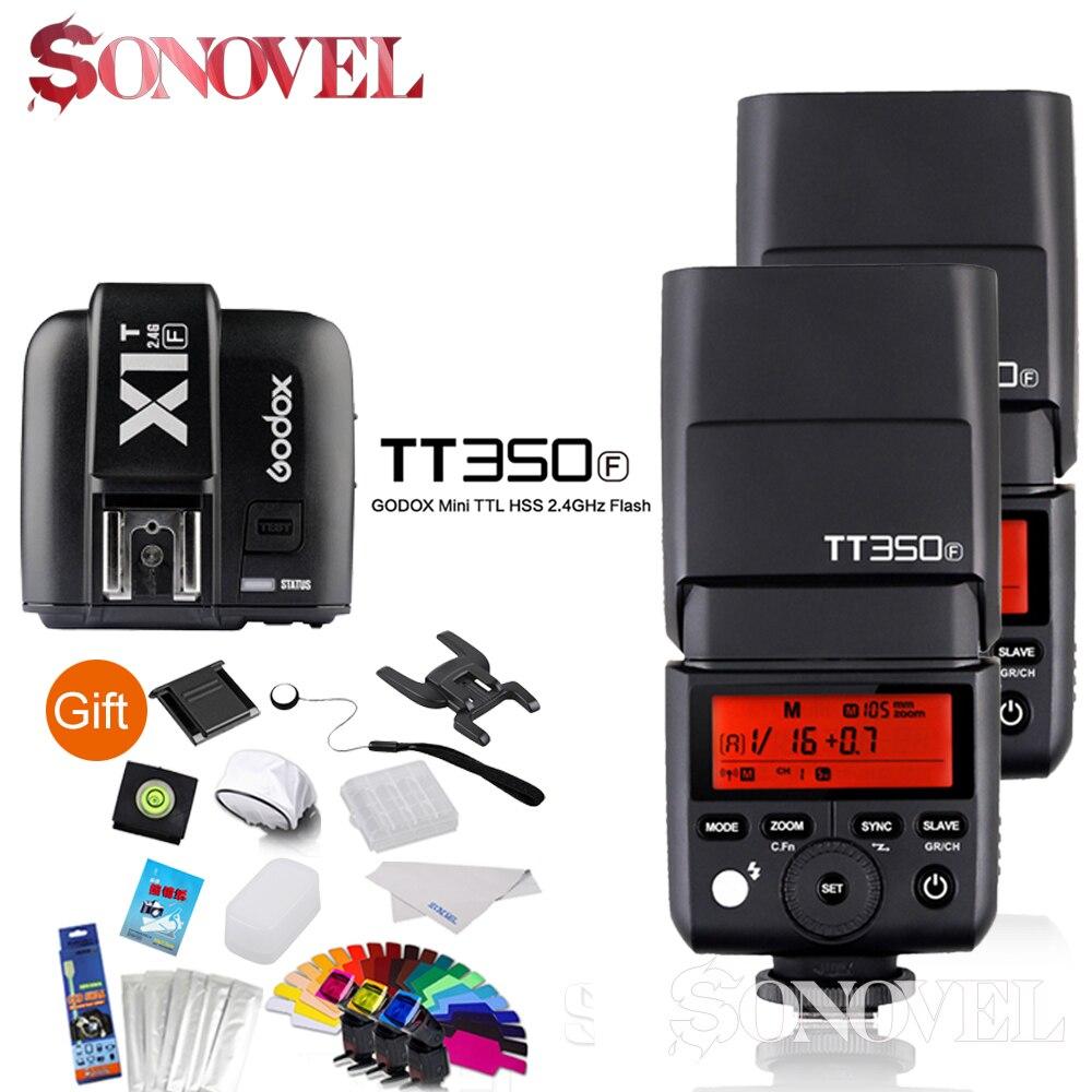 In Stock Godox 2x TT350F 2.4G HSS TTL GN36 Flash Speedlite + X1T-F Trigger Transmitter Kit for Fuji Fujifilm CameraIn Stock Godox 2x TT350F 2.4G HSS TTL GN36 Flash Speedlite + X1T-F Trigger Transmitter Kit for Fuji Fujifilm Camera