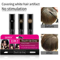 One-Time Hair dye Instant Gray Root Pen dye black hair 2-in-1 easy to apply 2 brush heads dark brown touch-up dye white hair