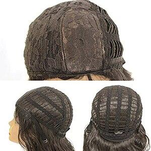 Image 5 - QD Tizer قصيرة بوب الشعر لا الدانتيل الباروكات حريري أعلى مقاومة للحرارة الاصطناعية غلويليس الباروكات للنساء السود