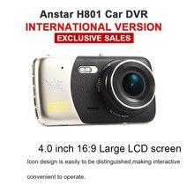 Original Car Dvrs Dual Camera Full HD 1080P Dash Cam Anstar H801 Video Recorder Novatek 96655 4.0″ LCD Night Vision Camcorders