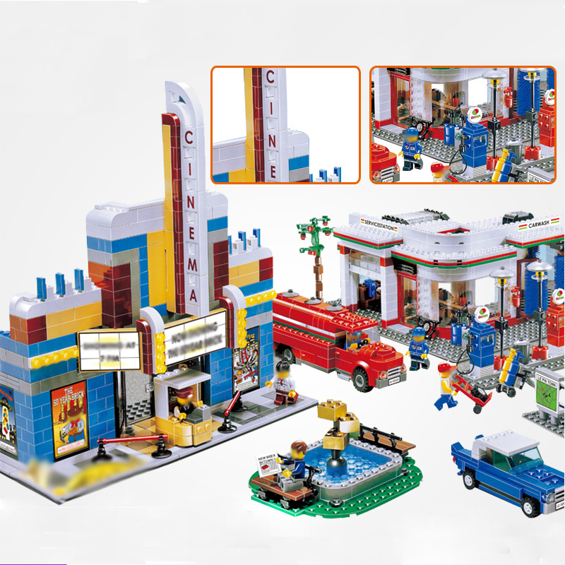 LEPIN 02022 2080Pcs 50th Anniversary Town City Educational Model Building Blocks Bricks Toys for Children Gift with Legoed 10184 waz compatible legoe city lepin 2017 02022 1080pcs city 50th anniversary town figure building blocks bricks toys for children