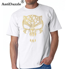 81bece6ffe2b Wakanda King Black Panther T Shirts Civil War Punisher Leopard T-shirt Men  iron cool