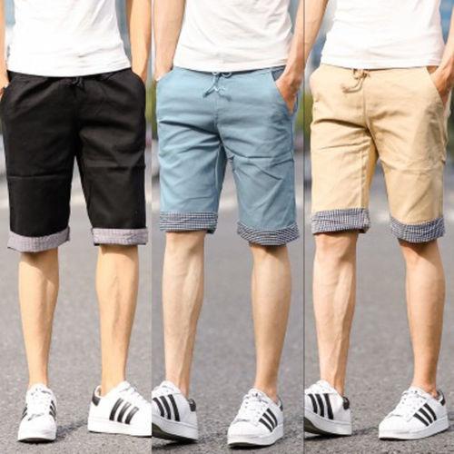 2015 Summer Hot Men Shorts Plaid Ruched Casual Dress Cotton Slim ...