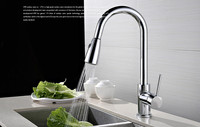 New Design Of High Grade Copper Chrome Finish Hot And Cold Kitchen Faucet Can Rotate Pull