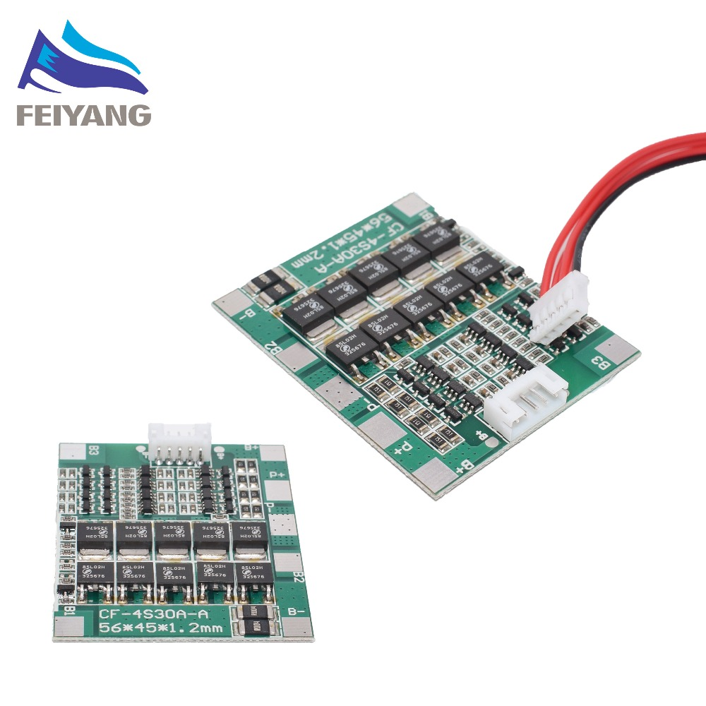 New Arrival 4S 30A 14.8V Li-ion Lithium 18650 Battery BMS Packs PCB Protection Board Balance Integrated Circuits image