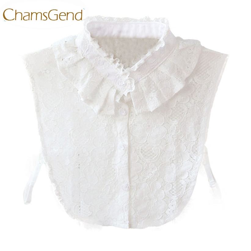 Chamsgend Detachable Collar Newly Design Hot! Women White Lace Flower Fake Shirt Collar Necklace Choker Collar 160120