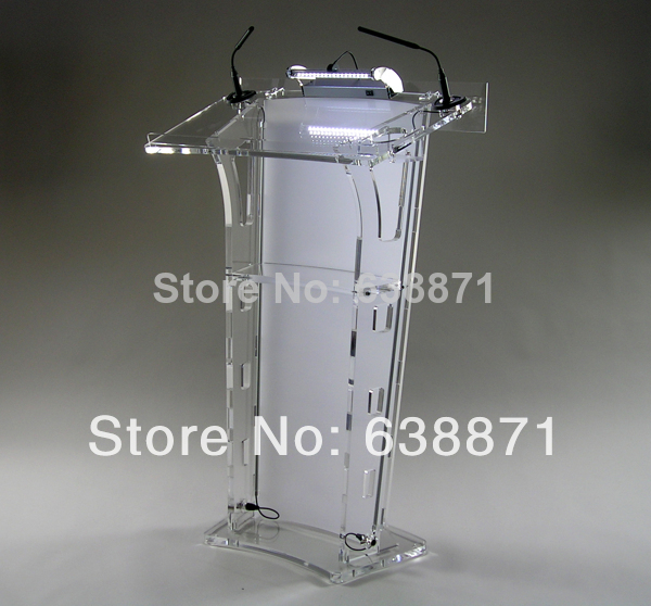 Free Shiping Super Hot High Quality Acrylic Podium Pulpit Lectern