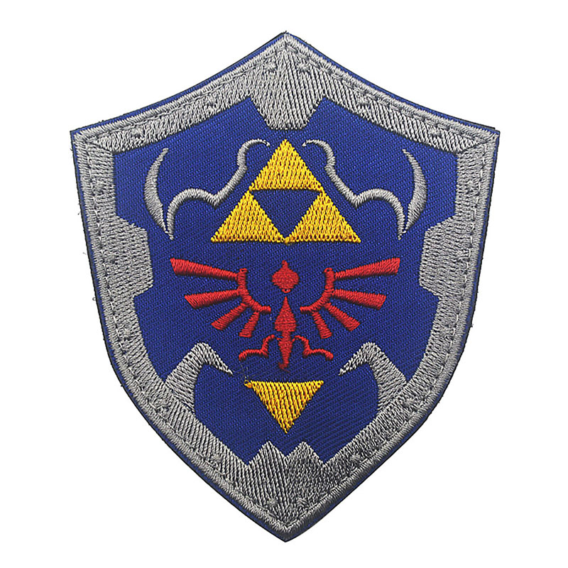 The Legend Of Zelda Link Shield Parche Tactical Armband Magic Military Football Patch Can Be Posted Clothing Bornal Militar