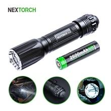 Linterna táctica LED de 1300 lúmenes, batería recargable brillante, resistente al agua, militar, policía, TA30 18650