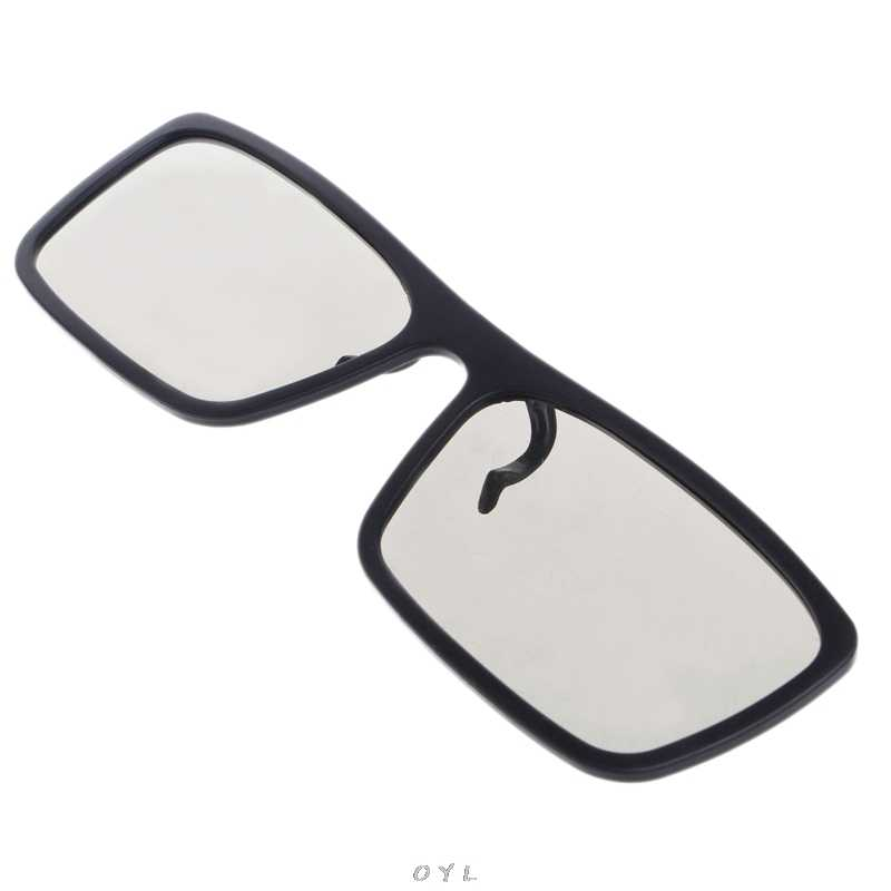 Gafas circulares polarizadas 3D tipo Clip-On para TV Real 3D Cinema 0,22mm