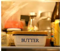 Food storage box kitchen butter dish rectangular wooden cover butter box refrigerator with butter box