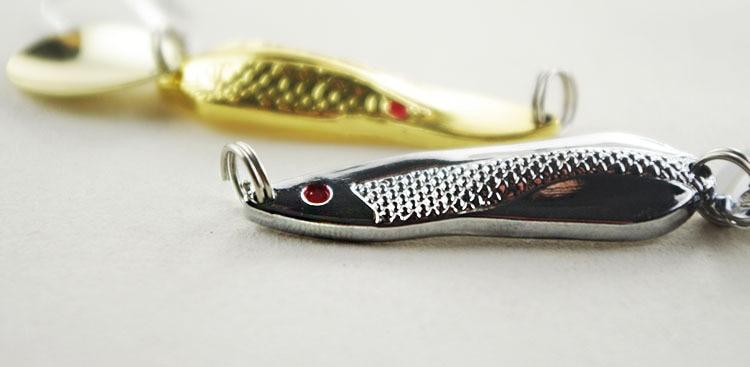 Horgászat Spinner Bait Spoon Lure Erős zajos Jigbait mesterséges - Halászat - Fénykép 4