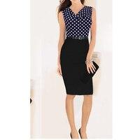 Wholesale Sexy Sleeveless Dot Sashes Dress