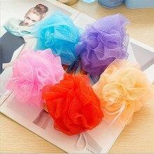 5Pcs/Lot Candy Color Body Wash Bath Ball Large Bath Sponge Bath Flower Mesh Bath Washing Tool Accessory