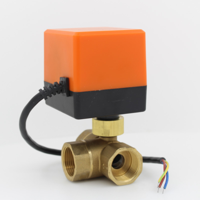 3 way motorized brass ball valve electric ball valve ball valve with electric actuator AC220V DN15 DN20 DN25 DN32 DN40 ac220v dn15 g1 2 to dn32 g1 1 4 3 way 3 wires brass motorized ball valve electric actuator motor with manual switch function