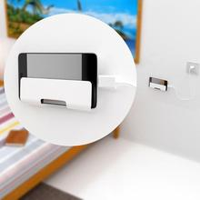 ALLOET White Phone Tablet Universal Wall Mount Holder With 3M Adhesive Smartphone Charging Stand Bracket for All Mobile Phones
