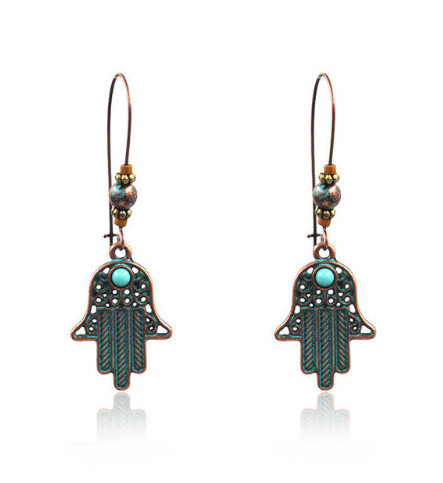Copper Style Ethnic Earrings Mawgie
