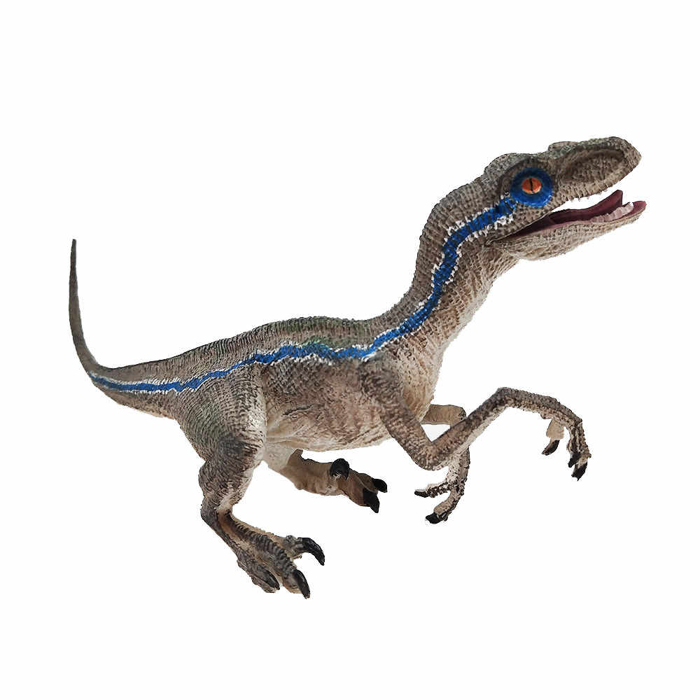 Blue Velociraptor Dinosaur Action Figure Animal Model Toy Collector figurines set toys small plastic Simulation L824