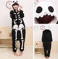 Бесплатная Доставка Мужская капюшоном Пижамы Аниме Косплей скелет Костюмы Животных Onesie размер s-xl