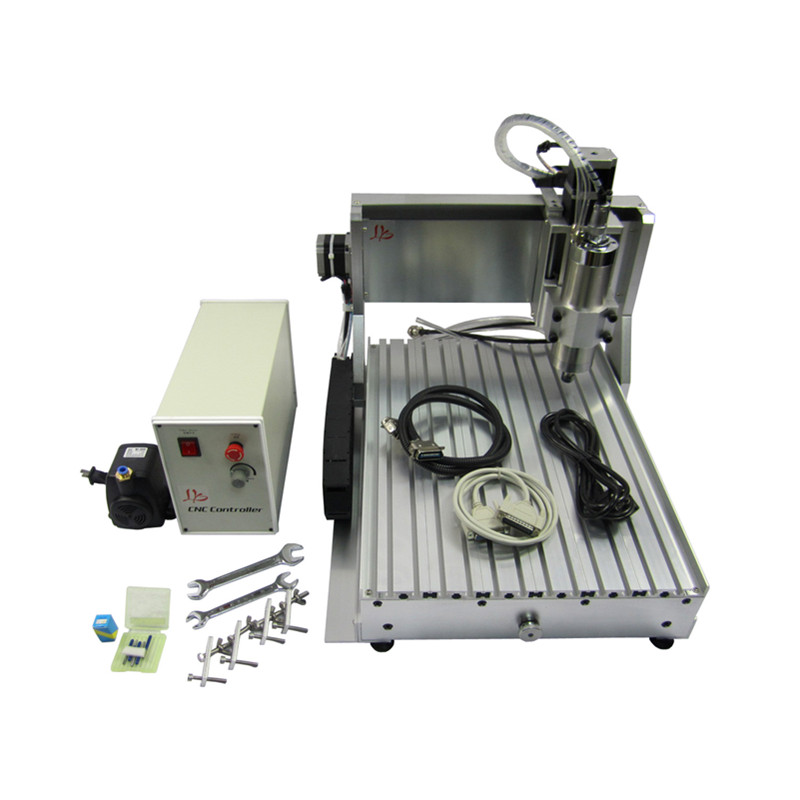 3040 1500KW Mini 4axis 3axis CNC Router 1.5kw Water Cooling Spindle Metal Engraving Drilling Milling Machine ER11 Collet Chuck