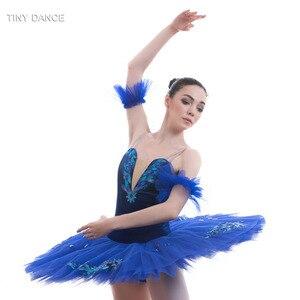 Image 5 - Tulle rigide bleu Royal, 7 couches de Costumes de danse classique, robe Tutu en crêpe, pour le Ballet professionnel BLL027