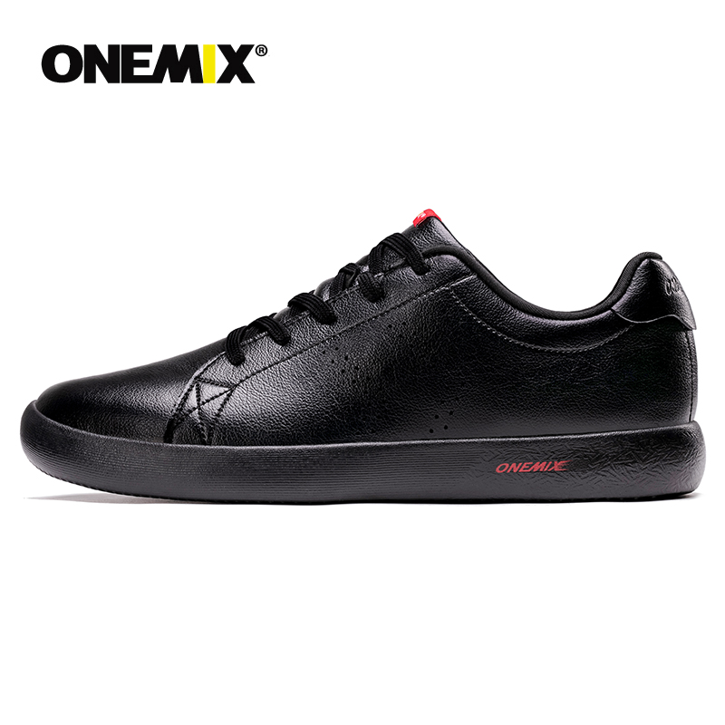 ONEMIX Men Shoes Sneakers 2019 New Casual Soft Leather Skateboard Shoes Lightweight Jogging Training White Black Tenis MasculinoONEMIX Men Shoes Sneakers 2019 New Casual Soft Leather Skateboard Shoes Lightweight Jogging Training White Black Tenis Masculino