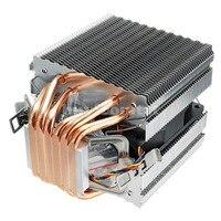 90mm Heat Pipe 6 Heatpipe Desktop Computer CPU Cooler Fan Bracket U ltra Quiet Heatsink for Intel 1156/1155/1150/775