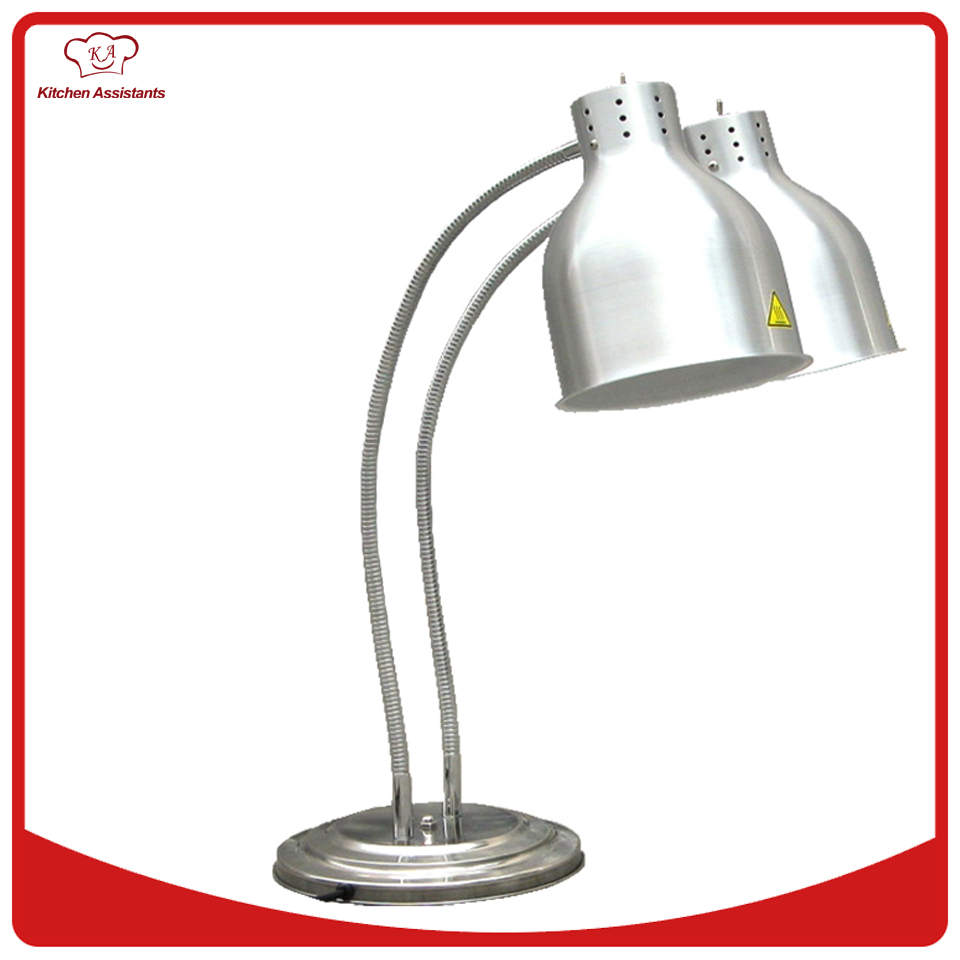 DW2 Hotel restaurant equipment food warmer 2 Lamp Warming Staion pkjg dh2x2 stainless steel fast food warmer food warmer fast food equipment food warming cabinet