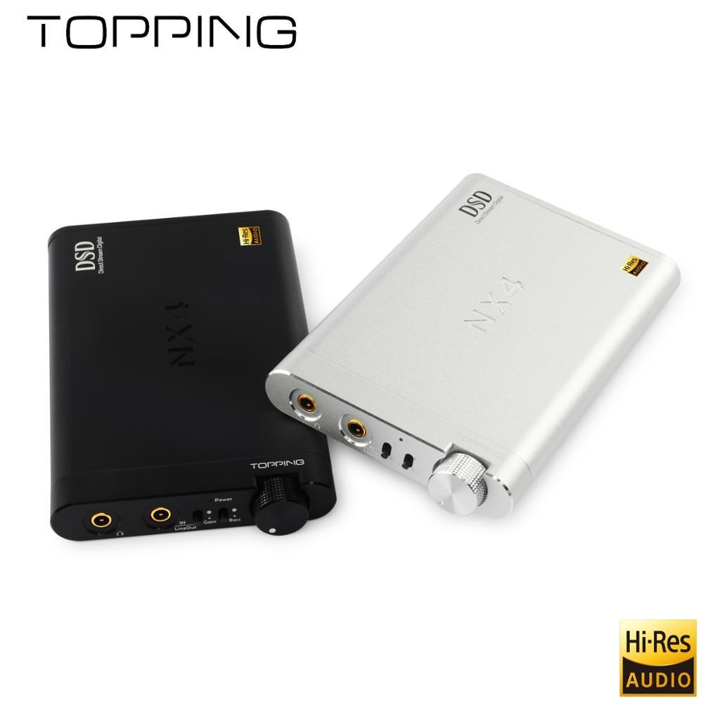 NEW TOPPING NX4 decodifica amp febbre HiFi portatile DSD XMOS, ES9038Q2M, OPA2140 DAC USB decoder, DSD512 (Nativo) soluzione hardware