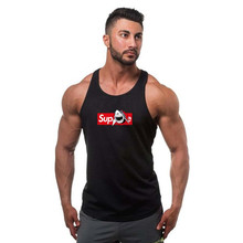 font b Mens b font gyms Fitness bodybuilding Tank Tops cotton Slim fit sleeveless Shirts