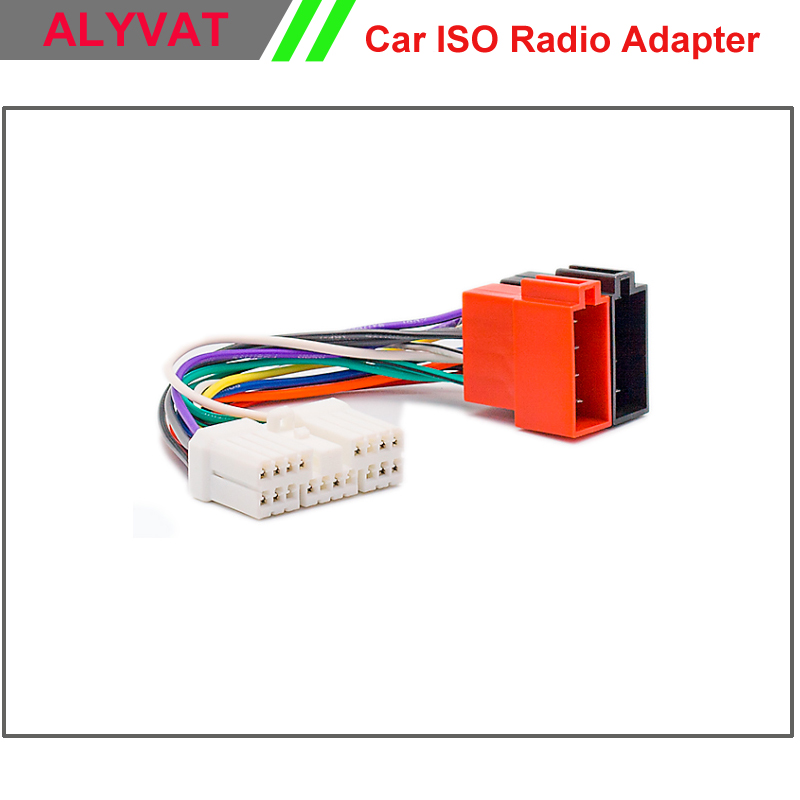 ISO Conector do Adaptador Estéreo do carro Para Ssang Yong 2005 + Daewoo 1997 + Wiring Harness Chumbo Loom Cable Adaptador de Rádio Auto plugue