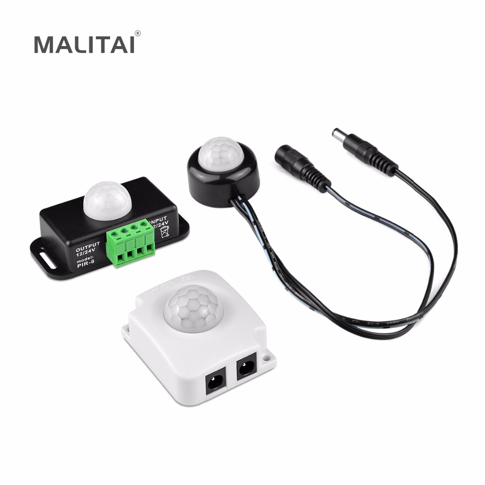 LED Strip light Motion Sensor Switch 12V DC 5A/6A/10A IR Infrared Human Body Induction Dectector PIR Switch Automatic ON / OFF automatic dc 12v 24v 6a infrared pir motion sensor switch for led strip light new s08 drop ship