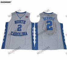 63547eea4fc DUEWEER Mens North Carolina Tar Heels College Basketball Jersey  2 Joel  Berry II University Stitched
