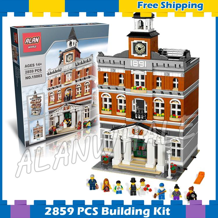 2859pcs Creator Expert Town Hall Bell Tower Construct Collection 30014 Model Modular Building Blocks Sets Compatible with Lego футболка destructo construct black