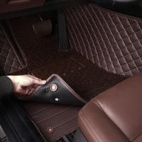 HLFNTF Custom Car floor Mat for Volkswagen All Models vw passat b5 6 polo golf jetta tiguan touran Wearproof Carpets car mat